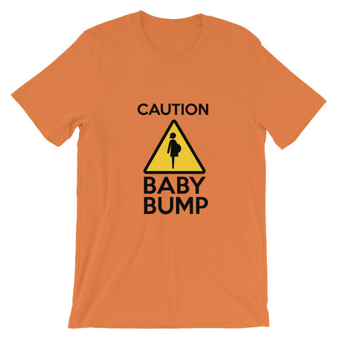 Image of Caution Baby Bump t shirt Cute Dog Baby Announcement 2020