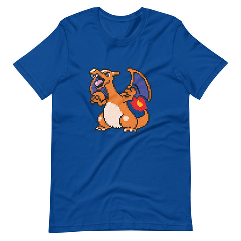 Image of Charizard Pixel Art T Shirt 2020 - Unique Gifts for Pokemon Lovers