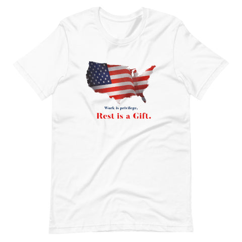 Image of Work is Privilege, Rest is Gift T-Shirt - Labors day 2020 t shirts