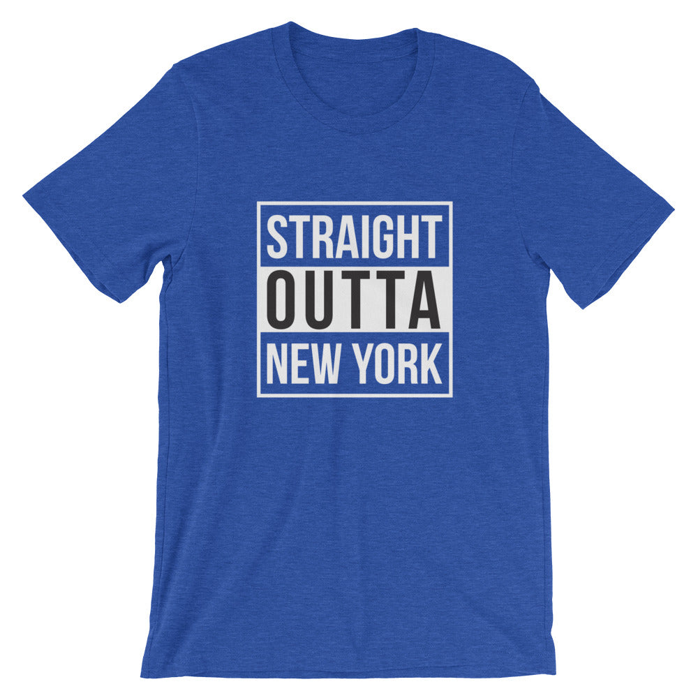 Straight Outta New York Short-Sleeve Unisex T-Shirt