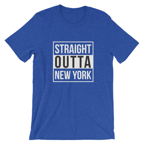 Image of Straight Outta New York Short-Sleeve Unisex T-Shirt