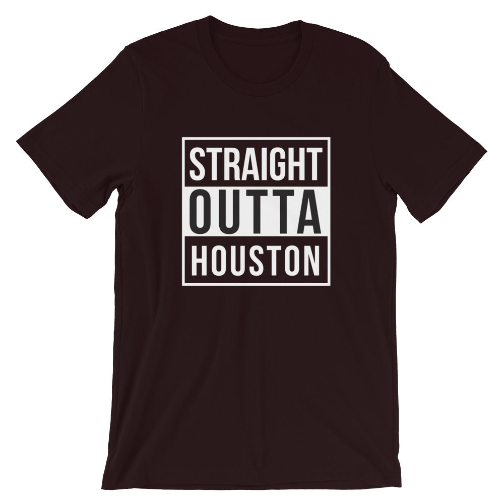 Straight Outta Houston Short-Sleeve Unisex T-Shirt