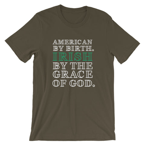 Image of Irish By The Grace Of God Short-Sleeve Unisex T-Shirt