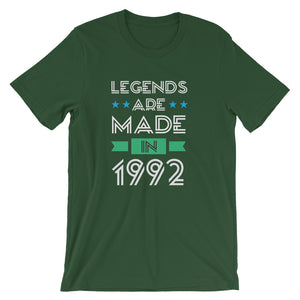 Happy 28th Birthday T-Shirt Born in 1992 Short-Sleeve Unisex T-Shirt