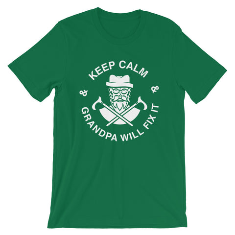 Image of Keep Calm grandpa Will Fix It Short-Sleeve Unisex T-Shirt