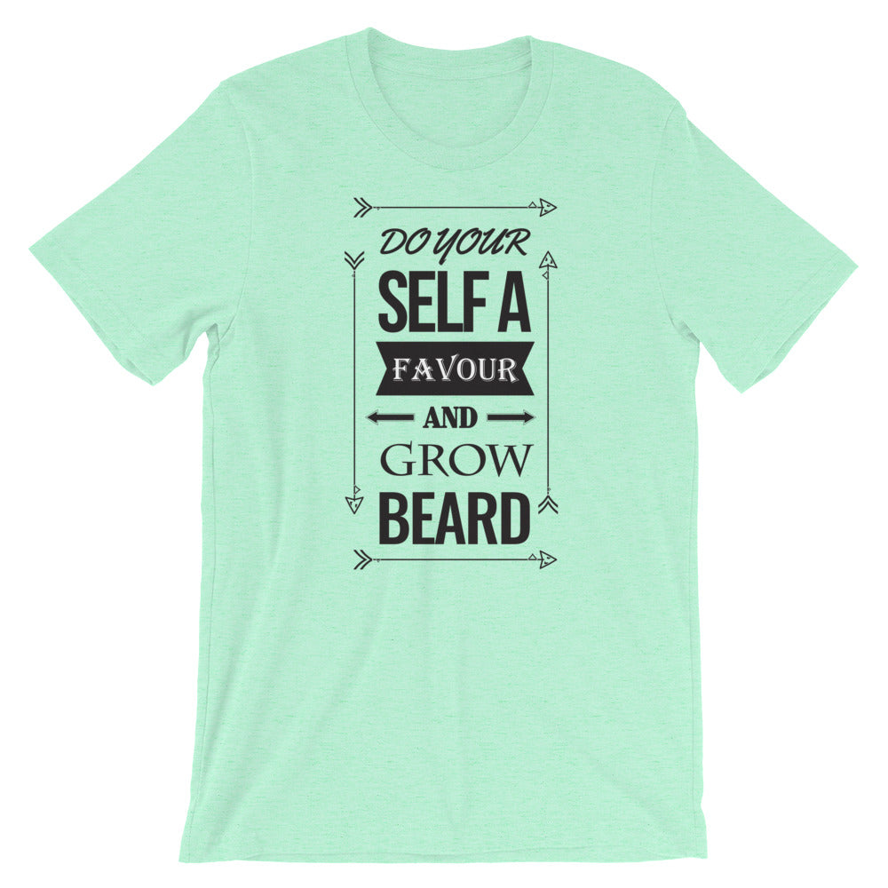 Grab A Smile Beard the F up Adult Short Sleeve 100/% Cotton T-shirt