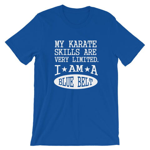 Image of 2020 Blue Belt Karate Short-Sleeve Unisex T-Shirt