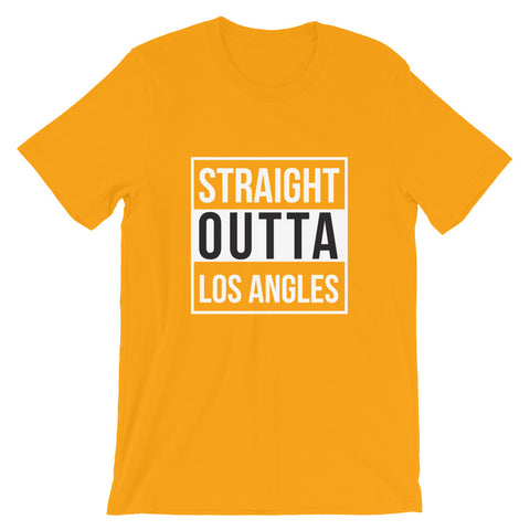 Straight Outta Los Angles Short-Sleeve Unisex T-Shirt