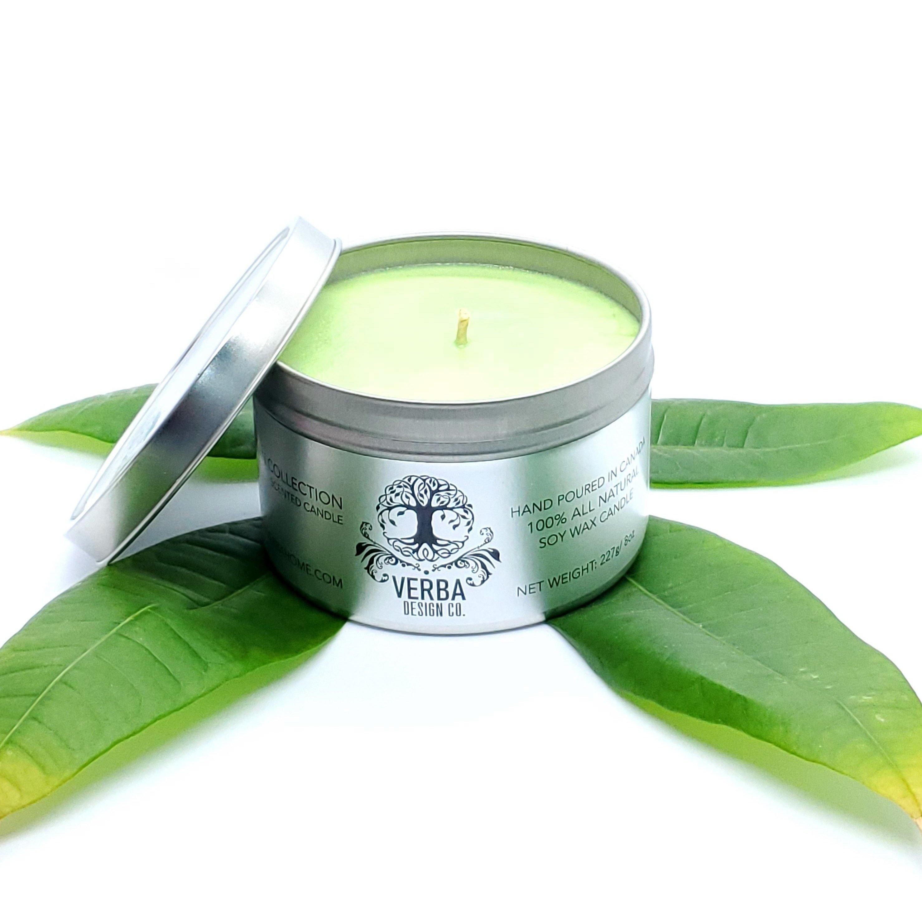 GREEN TEA & WHITE PEAR | Scented 8oz Candle | MILD