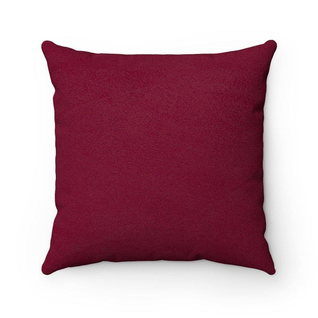 BORDEAUX VERBA Faux Suede Throw Pillow | Verba Design Co.