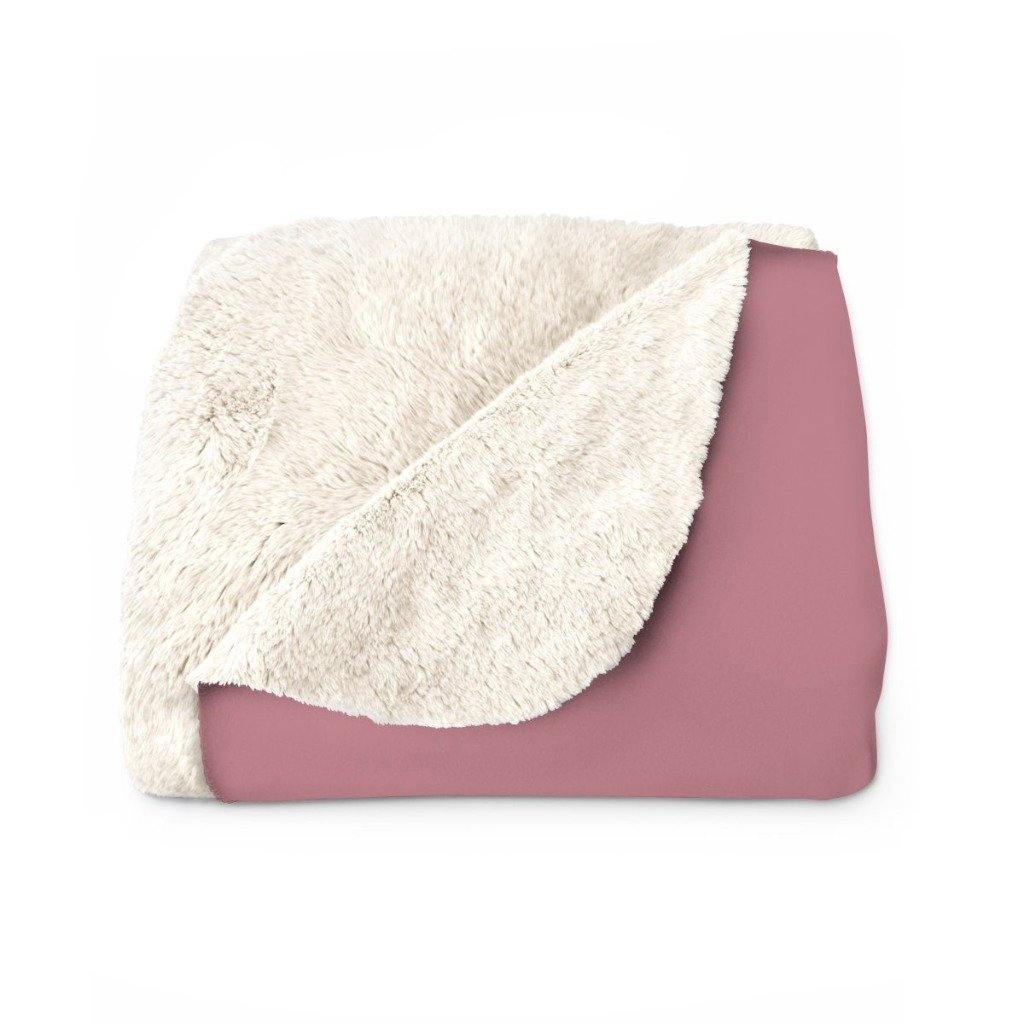 ROSE GOLD VERBA Sherpa Fleece Blanket | Verba Design Co.