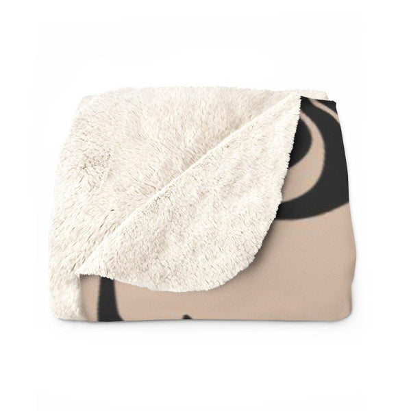 FEATHER Sherpa Fleece Blanket | Verba Design Co.