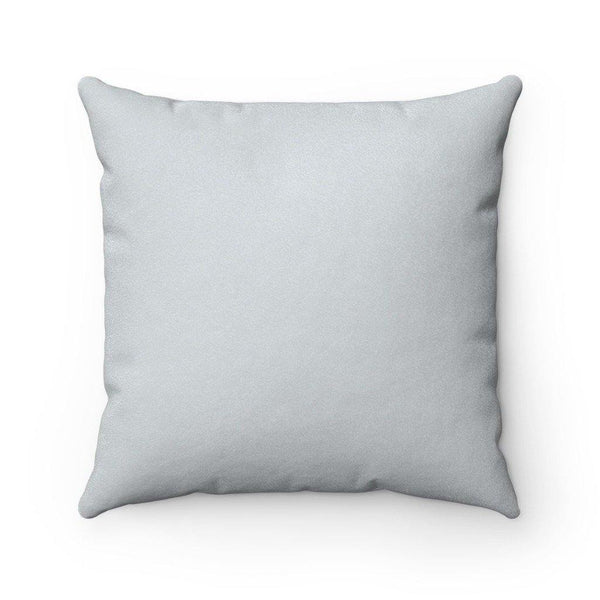 STERLING SILVER VERBA Faux Suede Throw Pillow | Verba Design Co.
