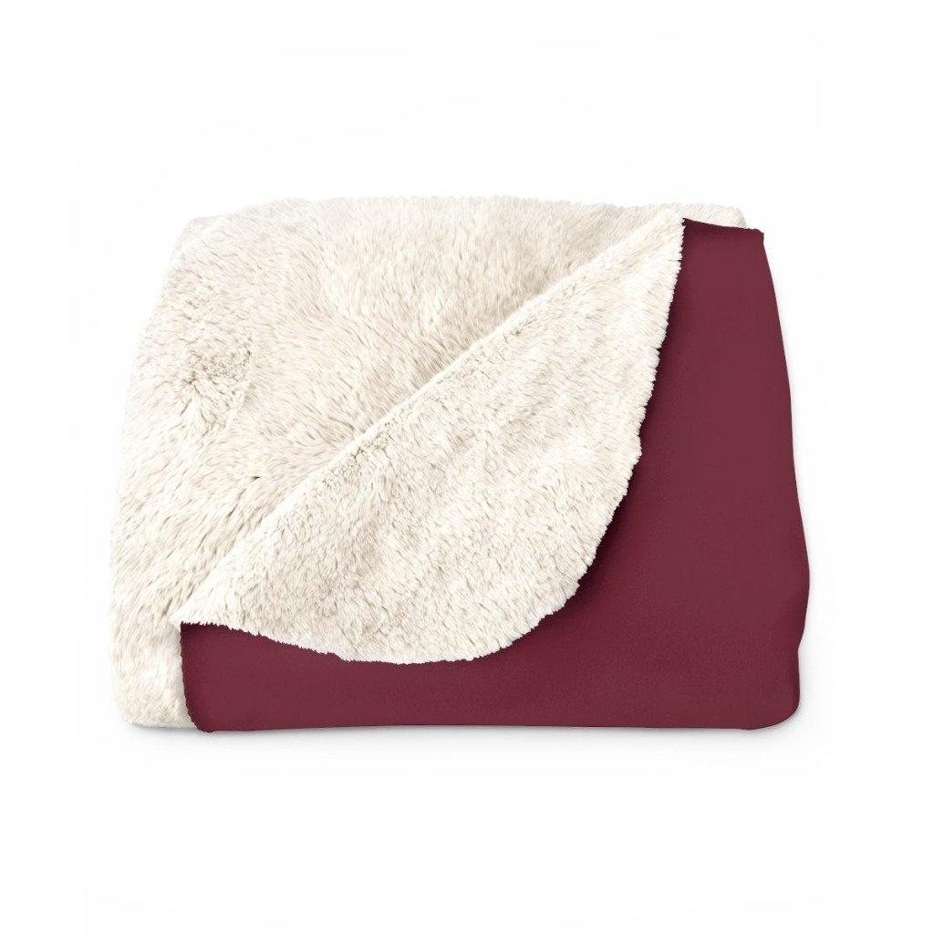 BORDEAUX VERBA Sherpa Fleece Blanket | Verba Design Co.