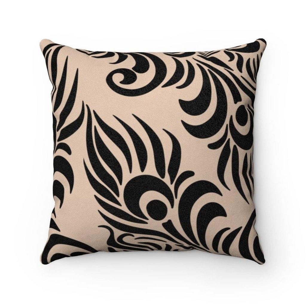 FEATHER Faux Suede Throw Pillow | Verba Design Co.