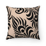 Load image into Gallery viewer, PEACOCK Faux Suede Throw Pillow | Verba Design Co.
