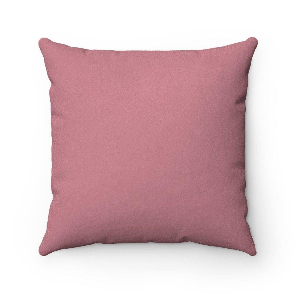 ROSE GOLD VERBA Faux Suede Throw Pillow | Verba Design Co.