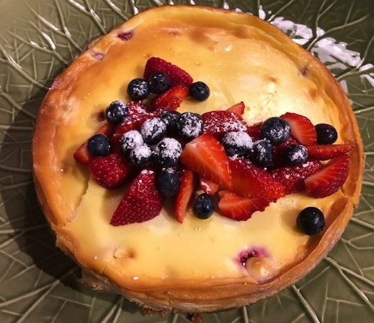 Berry & Ricotta Summer Baked Cheesecake