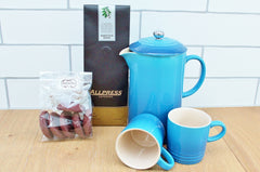 Le Creuset Coffee Press & Coffee Food Hamper | Gift for Dad | The Gift Loft (NZ)