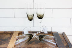 CC Interior Champagne Glasses Set | Noire | Latest Trends | Gift Ideas | The Gift Loft (NZ)