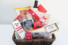 The Christmas Gourmet Food Basket with Christmas Cake | Gift for Him & Her | The Gift Loft (NZ)