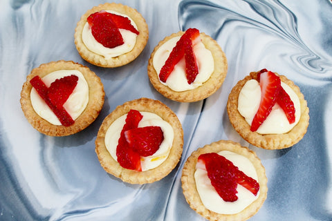 Christmas Strawberry Tarts with Creme Fraiche & Lemon Zest Filling | Recipe | The Gift Loft (NZ)