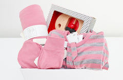 Babu Merino Wool Baby Hamper with Petit Collage Toy | The Gift Loft (NZ)