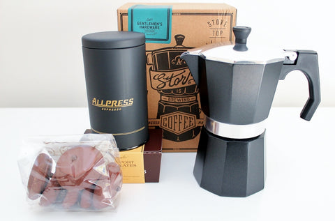 Stove Top Espresso Coffee Maker & Allpress Espresso Coffee | Coffee Gift Idea | The Gift Loft (NZ)