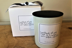 """Sometimes all you need is a Candle...."" Miller Road Hand Poured Flickering Thoughts Soy Candle"
