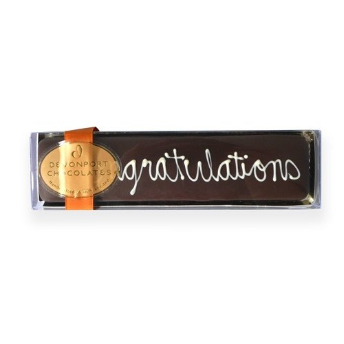 """Congatulations"" Devonport Chocolates Chocolate Truffle Slice 