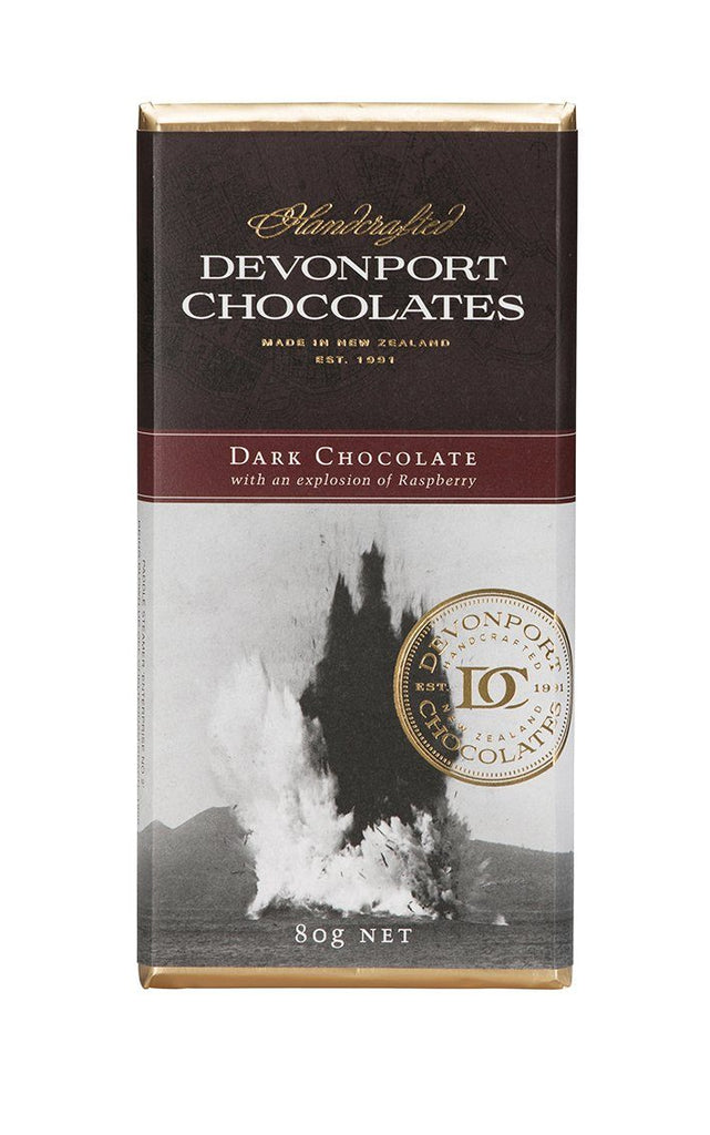 Devonport Chocolates Dark Raspberry Chocolate | Gluten Free | The Gift Loft (NZ)