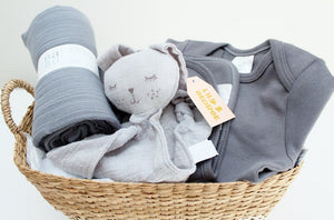 Beautiful Babu Baby Gift Basket - Storm Grey | Newborn Baby Gift | The Gift Loft (NZ)