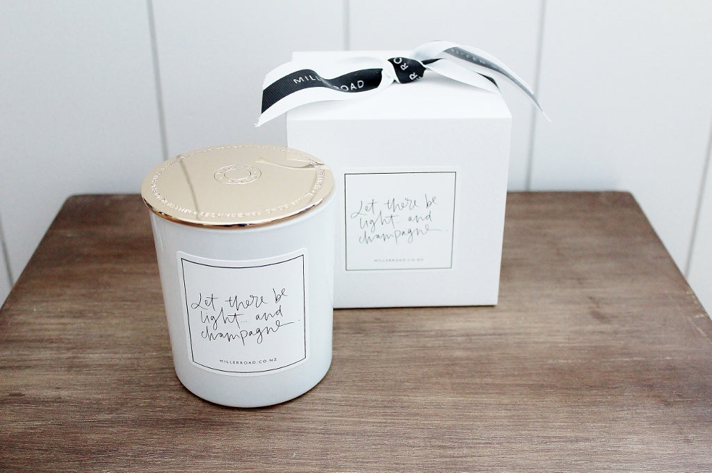 Let there be Light Flickering Thoughts Luxury Candle | Miller Road | The Gift Loft (NZ)
