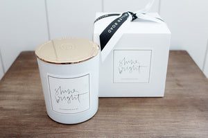 Shine Bright Flickering Thoughts Soy Luxury Candle | All Natural | NZ Made | The Gift Loft (NZ)