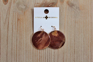 Stella + Gemma Sahara Stone Circle Earrings | Birthday Gift for Her | The Gift Loft (NZ)