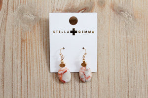 Stella + Gemma Rose Stone Oval Earrings | Birthday Gift for Her | The Gift Loft (NZ)