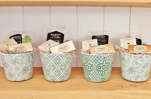 CC Interiors Green & White Assorted Planters with Gourmet Treats & Pamper Gifts | The Gift Loft (NZ)