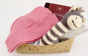 Babu Merino Baby Hat, Knitted Rattle & Chocolate Box | Newborn Baby Gift  | The Gift Loft (NZ)