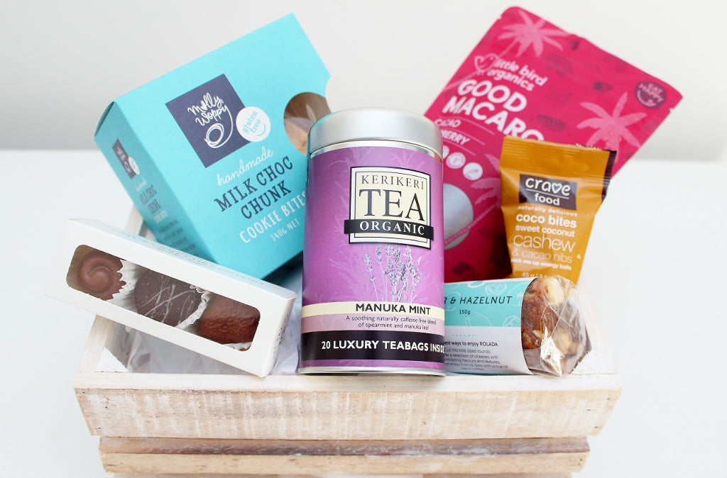 Delicious Gluten Free Afternoon Tea Hamper | Birthday Gift | The Gift Loft (NZ)