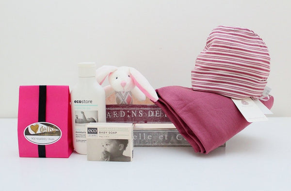 Babu Winter Merino Baby Hamper | Newborn Baby Girl Gift | The Gift Loft (NZ)