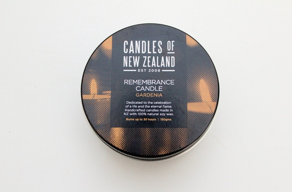 Remembrance Soy Candle, Gardenia | Condolence Gift Idea | The Gift Loft (NZ)