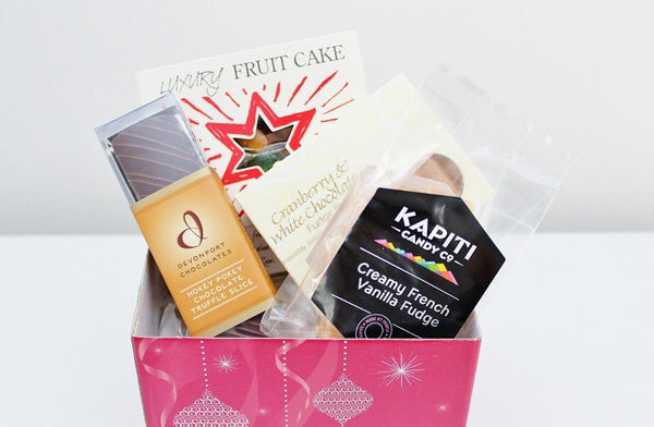 Gourmet Christmas Cake & Sweet Treats Hamper | Corporate Gift Food Baskets | The Gift Loft (NZ)
