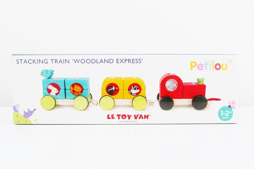 "Wooden Stacking Train ""Woodland Express"" 
