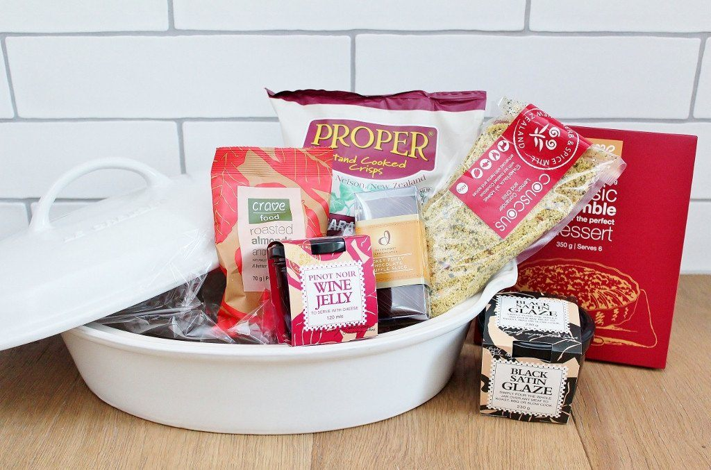 Le Creuset Heritage Deep Dish Gourmet Food Hamper | Corporate Gift Idea | The Gift Loft (NZ)