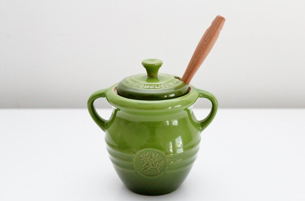 Le Creuset Olive Jar & Fork | Unique Homeware Gift Idea | The Gift Loft (NZ)