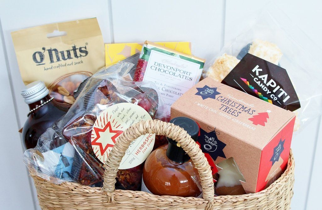 Summer Christmas Sweet & Savoury Gift Basket | Christmas Gift for Mum & Dad | The Gift Loft (NZ)