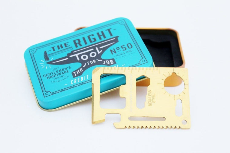 Gentlemen's Hardware Credit Card Tool | Gift for Him | The Gift Loft (NZ)