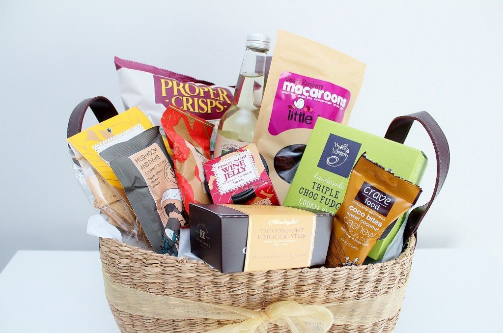 Premium Gourmet Food Gift In A Seagrass Basket