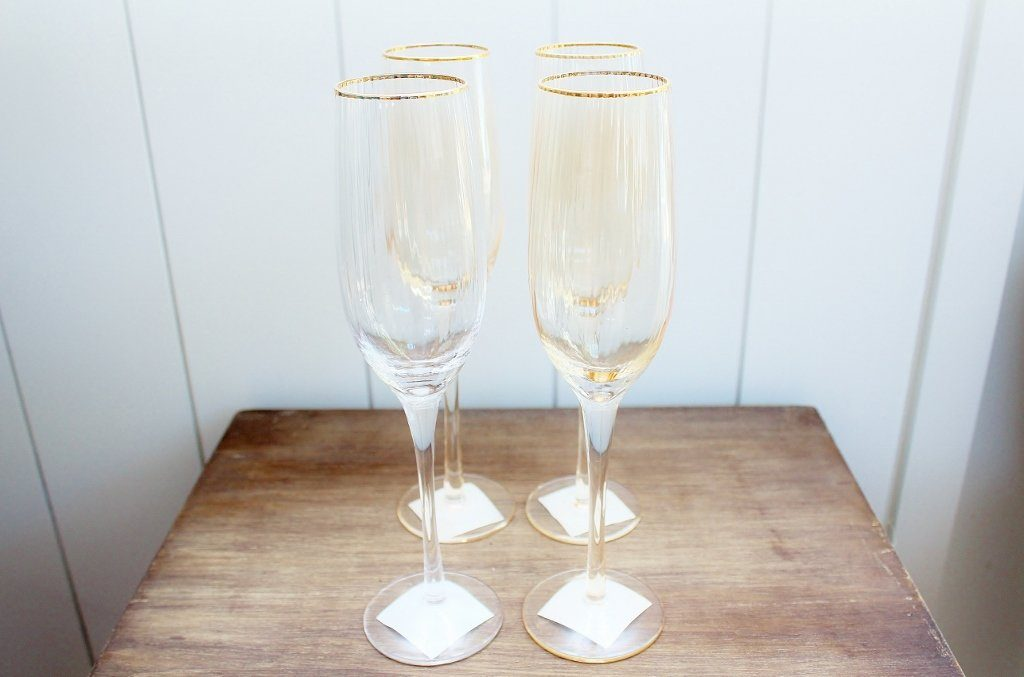 Cc Interiors Gold Dust Champagne Flutes Wedding Gift Idea The