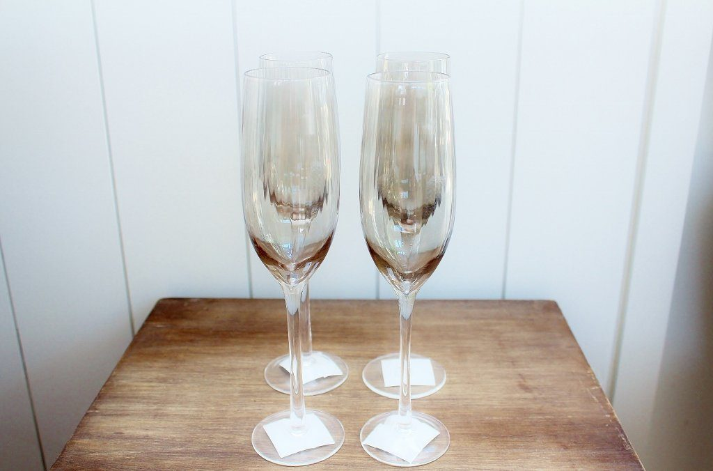 CC Interiors Noire Champagne Glass Set | Housewarming Gift Idea | The Gift Loft (NZ)